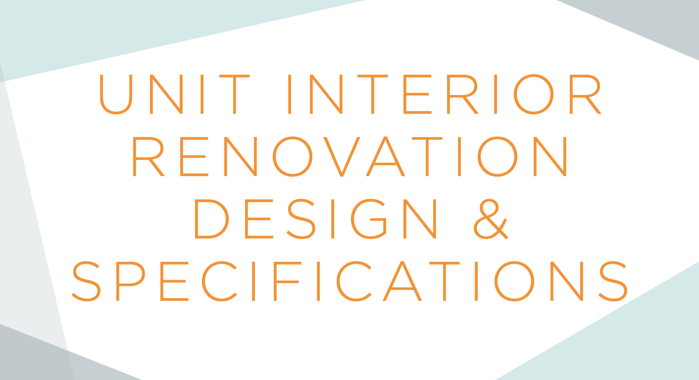 Modern Gem Design :: Unit Interior Renovation Design and Specifications