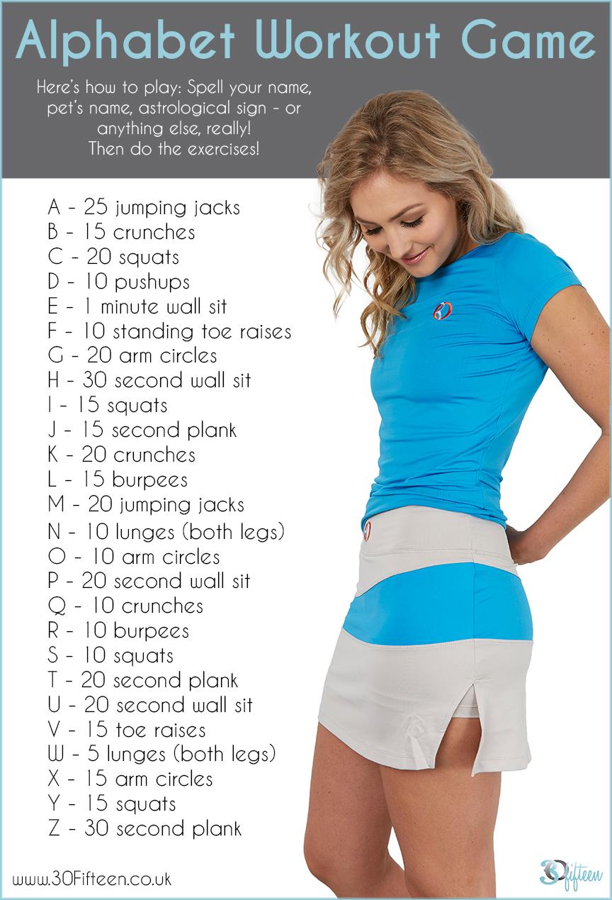 30Fifteen alphabet exercise routine