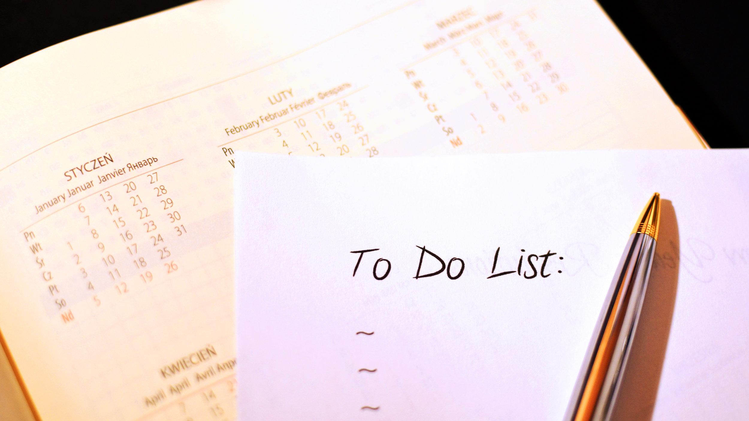 30Fifteen to do list plan