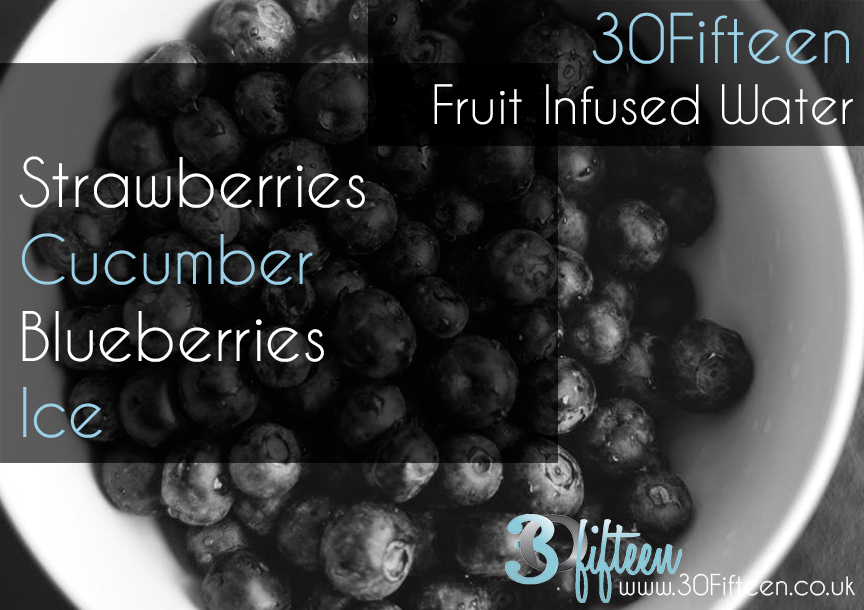30Fifteen Blueberry infused water