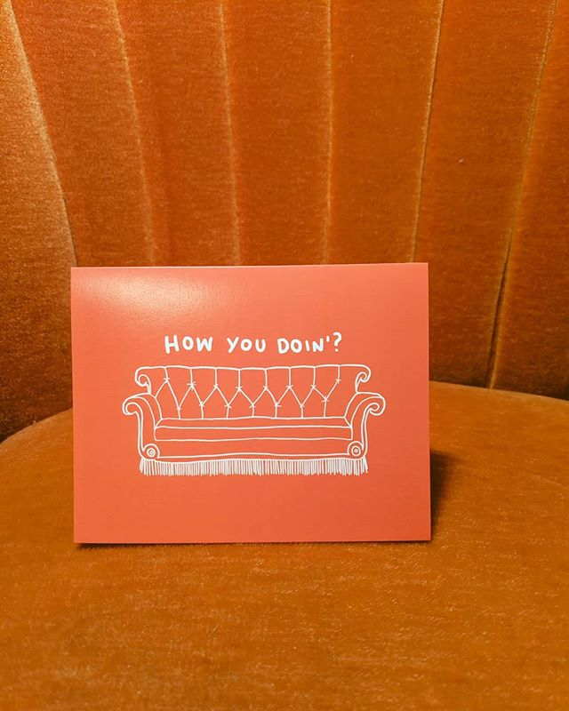 Tell your friends you'll be there for them with this card! 🛋️