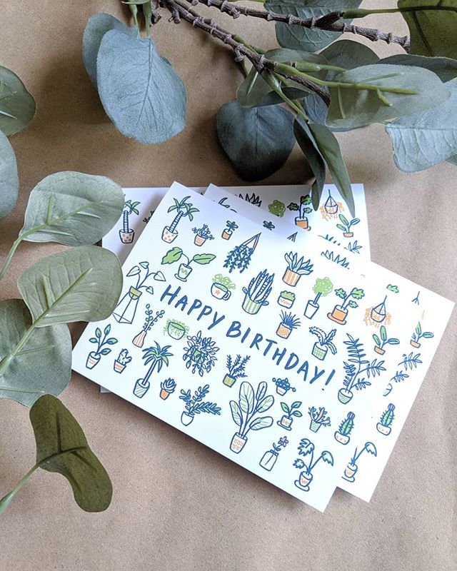 A birthday card for a plant lover 🌿