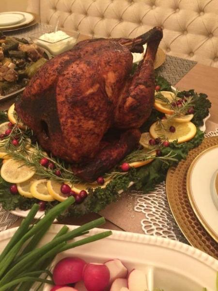 A beautiful fried turkey from last year!