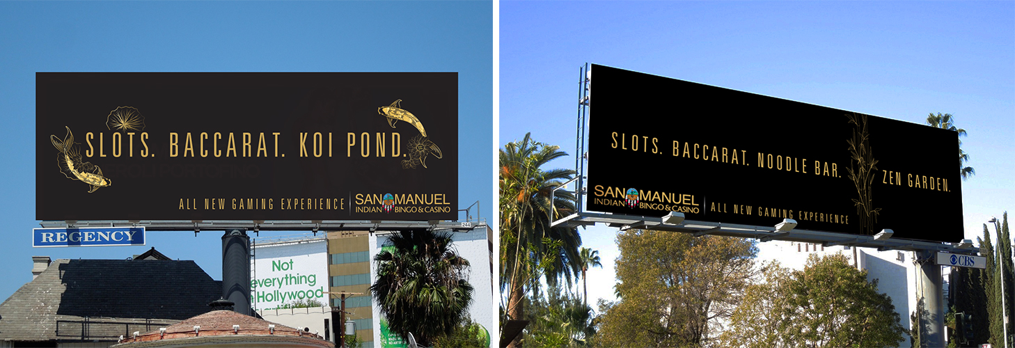 OOH Billboard that were placed all over LA