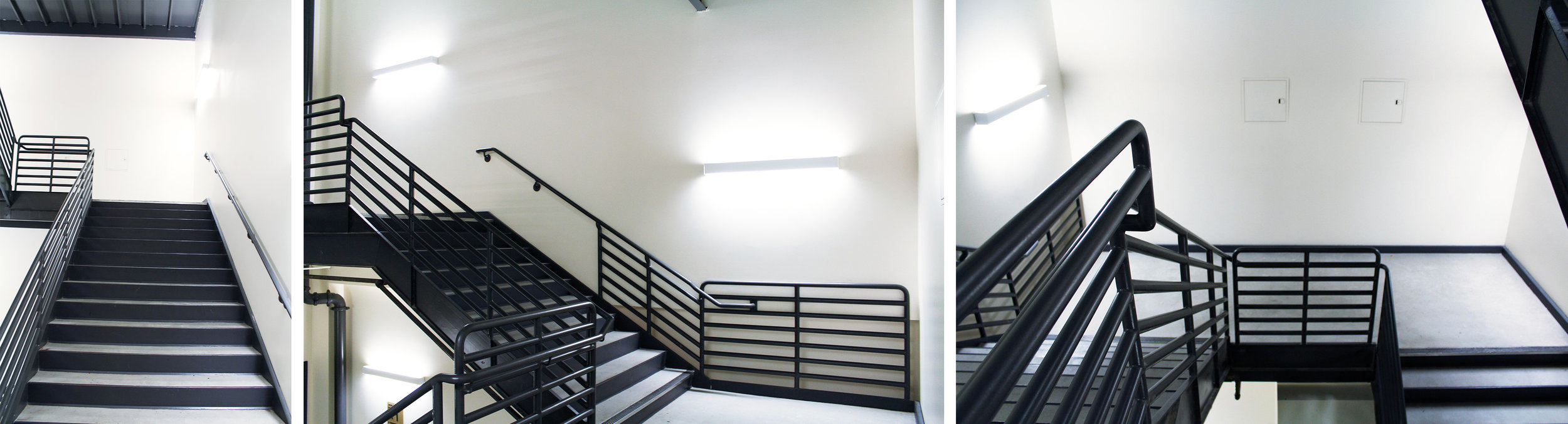 Photos of the Ronal Tutor Campus Center stairs