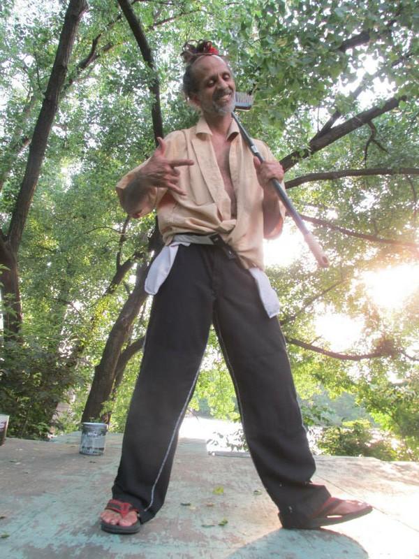 Fantuzzi with broom - Mr Fun's, MN, June 2013.jpg