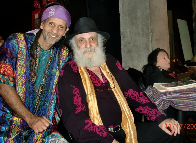 Fantuzzi and good friend Ira Cohen, 2010.jpg