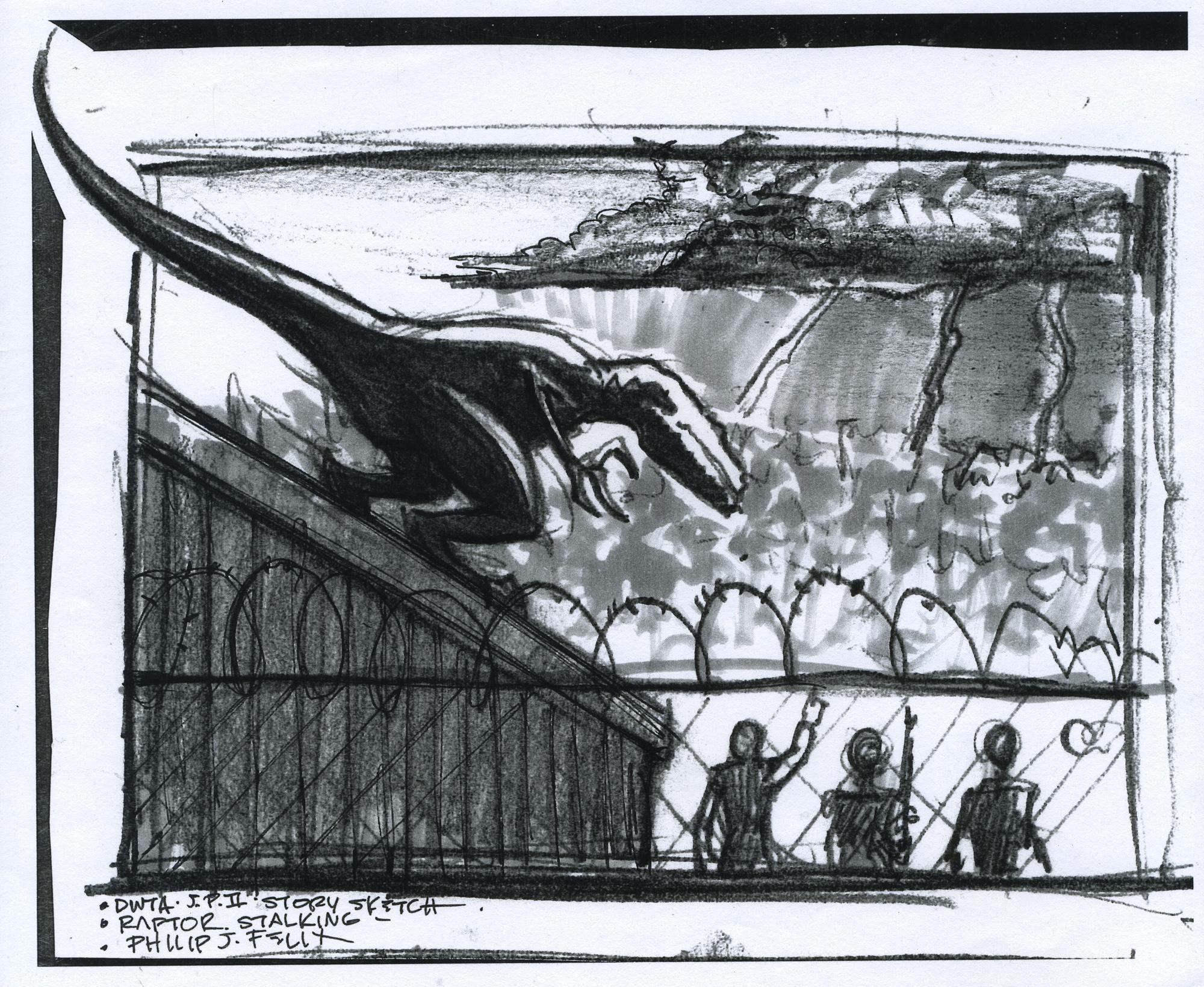 Jurassic Park Storyboard.