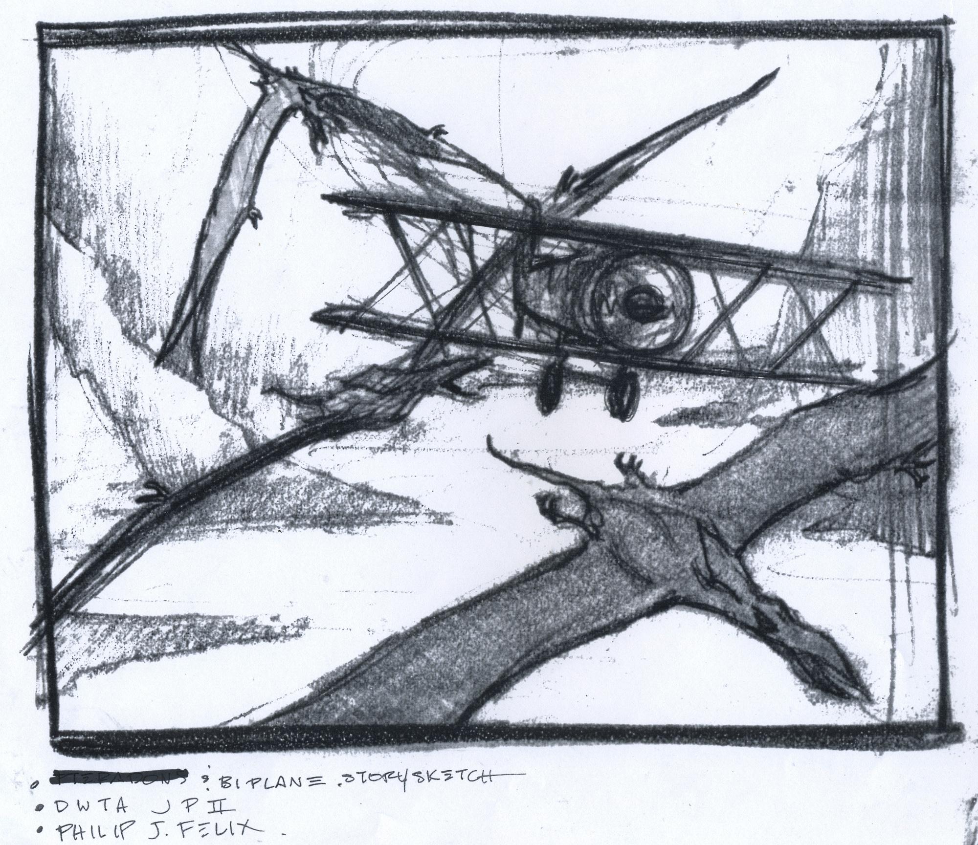 Jurassic Park sketch.