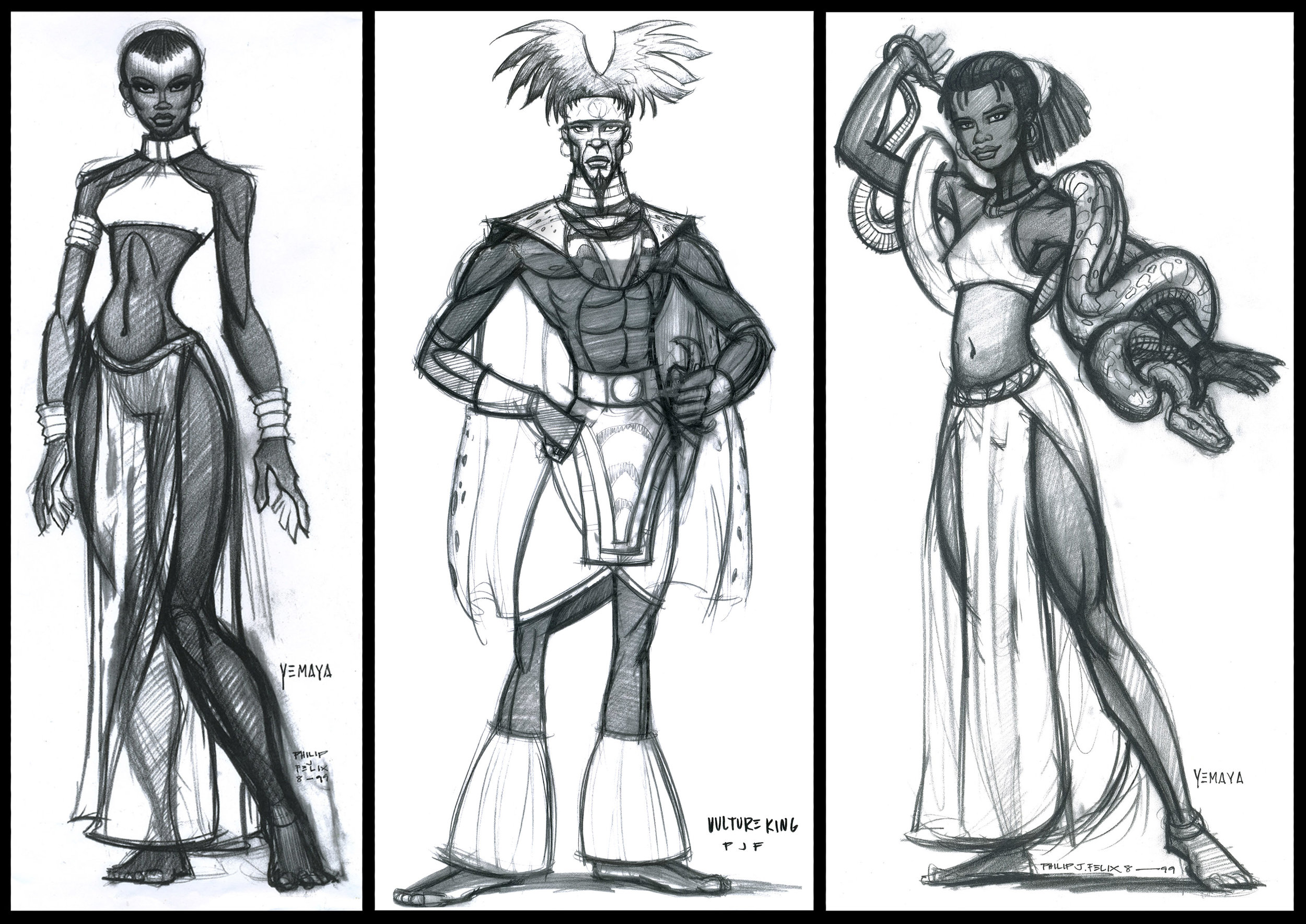 African characters.