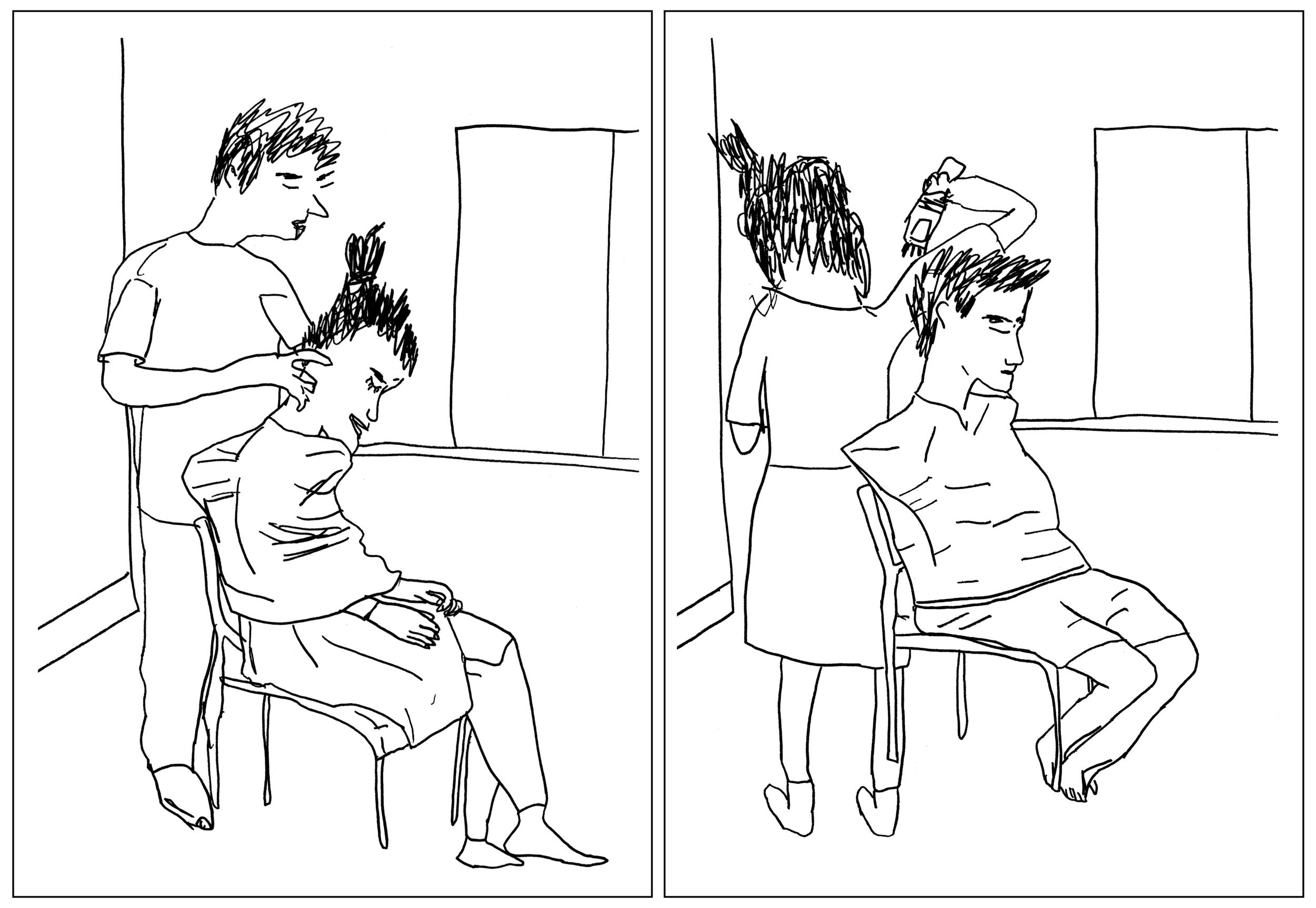 """Haircut Diptych"""