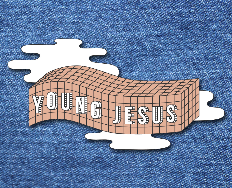 Enamel pin for Young Jesus