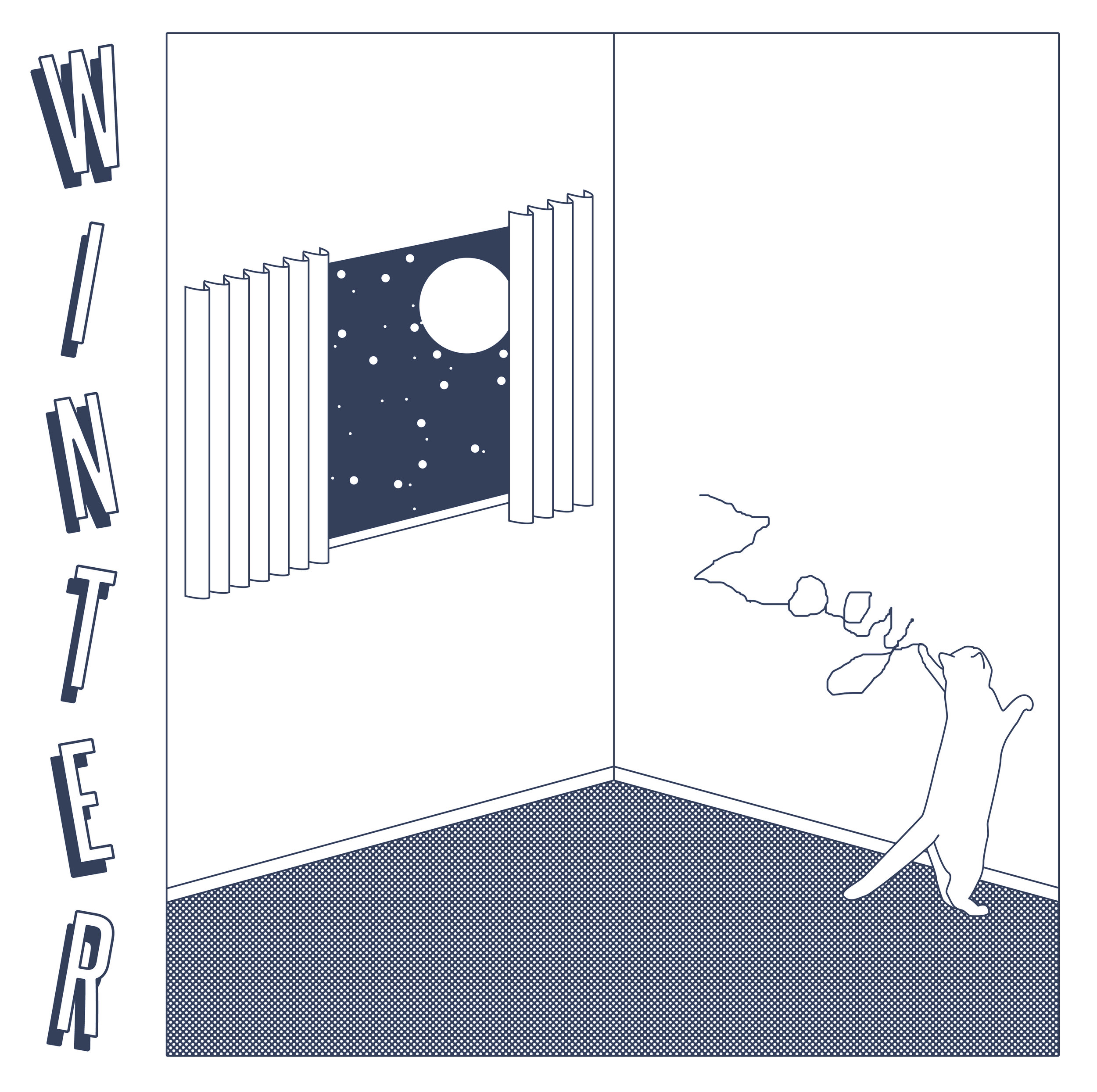 Poster/tote design for Winter