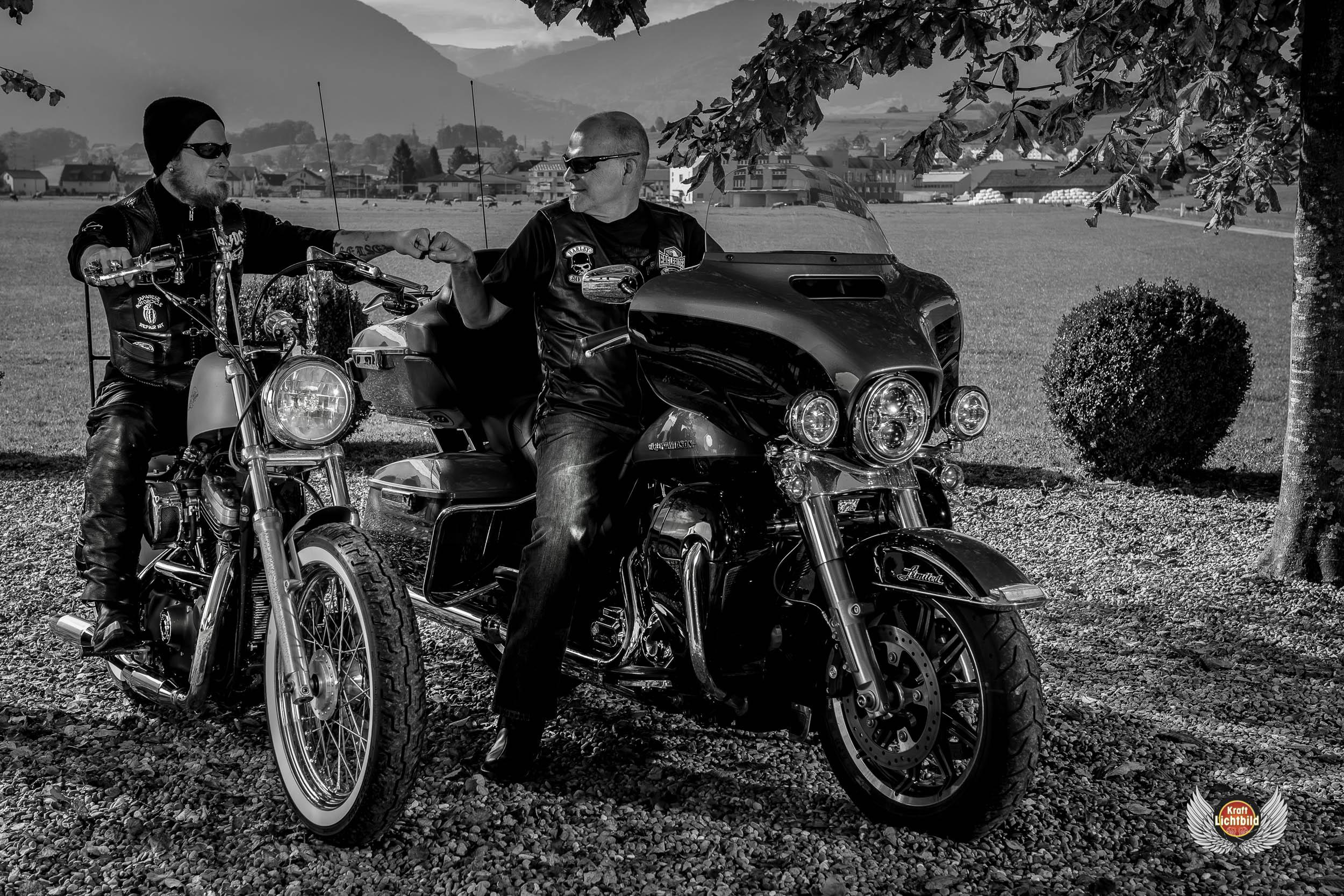 Urs und Ramon  with Harleys
