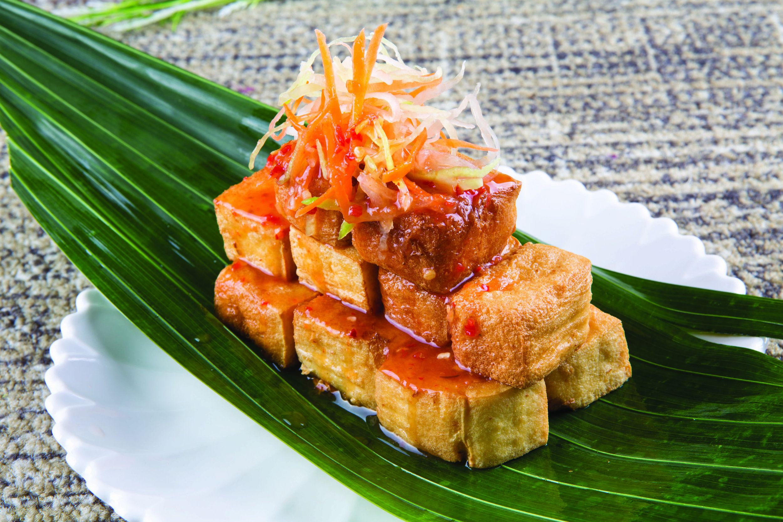 Golden Tofu with Thai Sauce.jpg