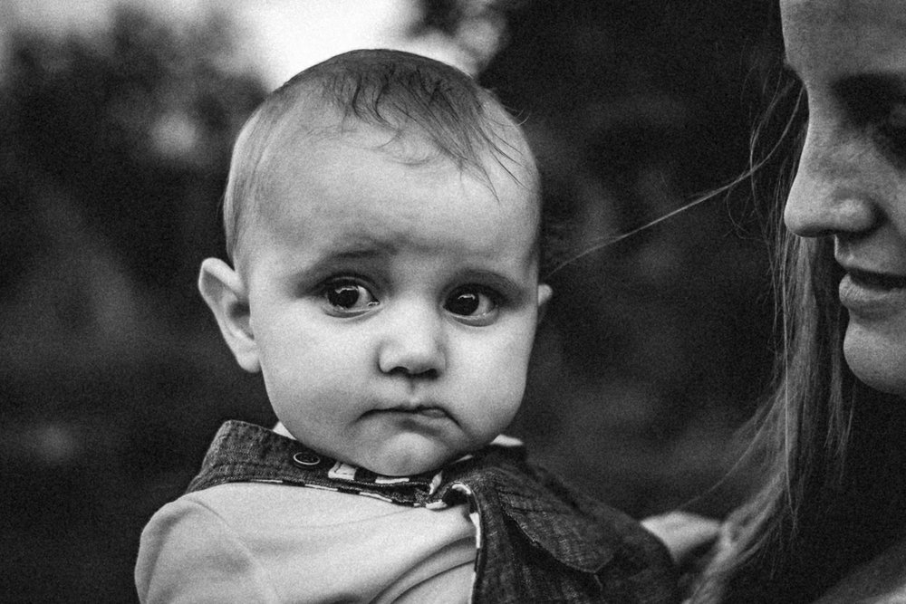 a slice of life documentary family photography black and white