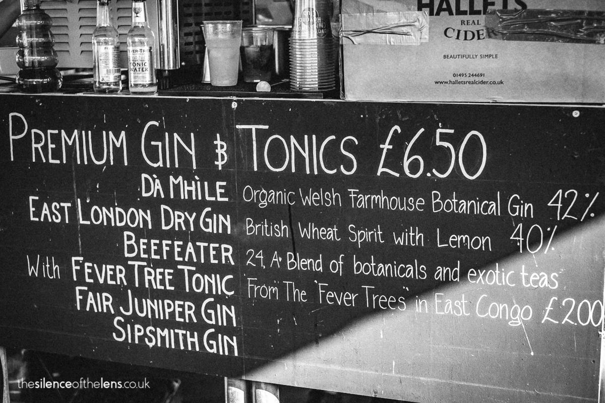 premium gin and tonic cardiff street food circus