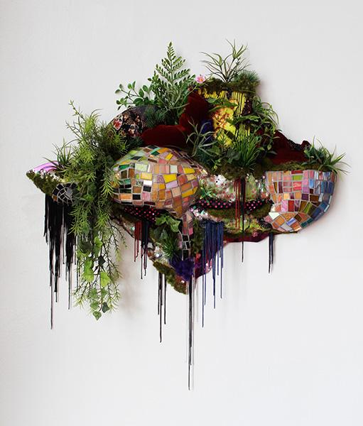 Lina Puerta_mixed media wall sculpture