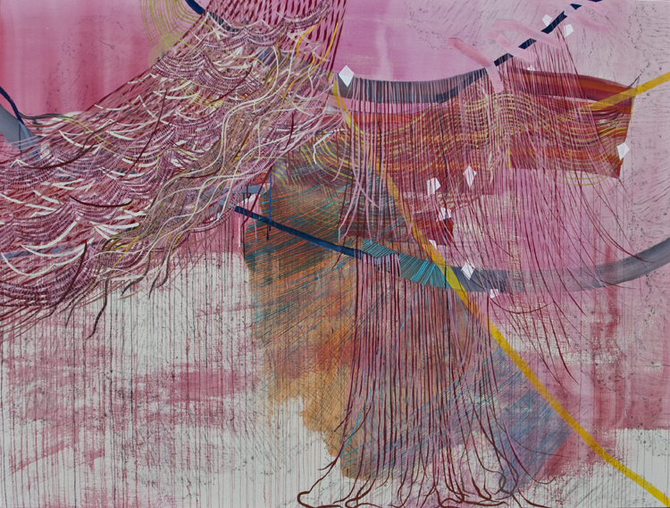Alyse Rosner_contemporary abstract painting pink
