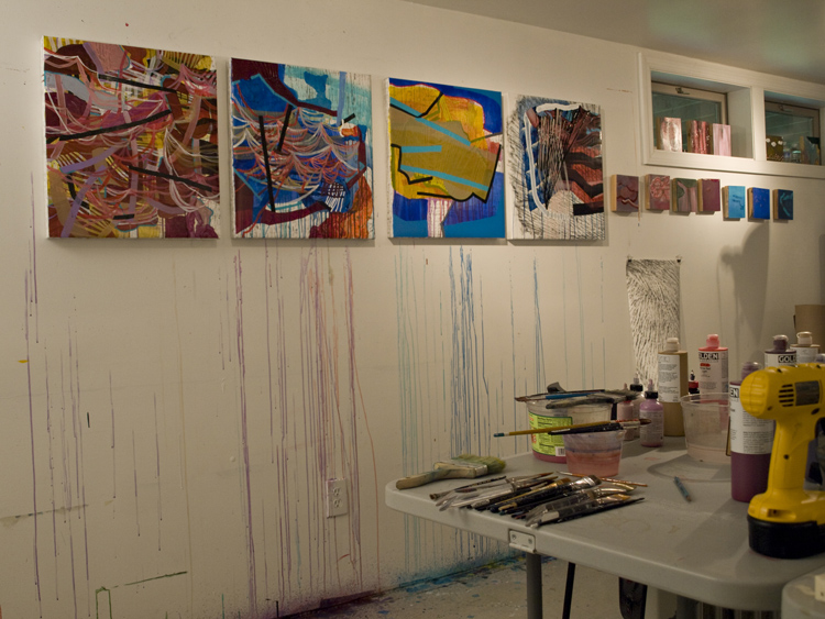 Alyse Rosner_contemporary abstract painting_ artist studio