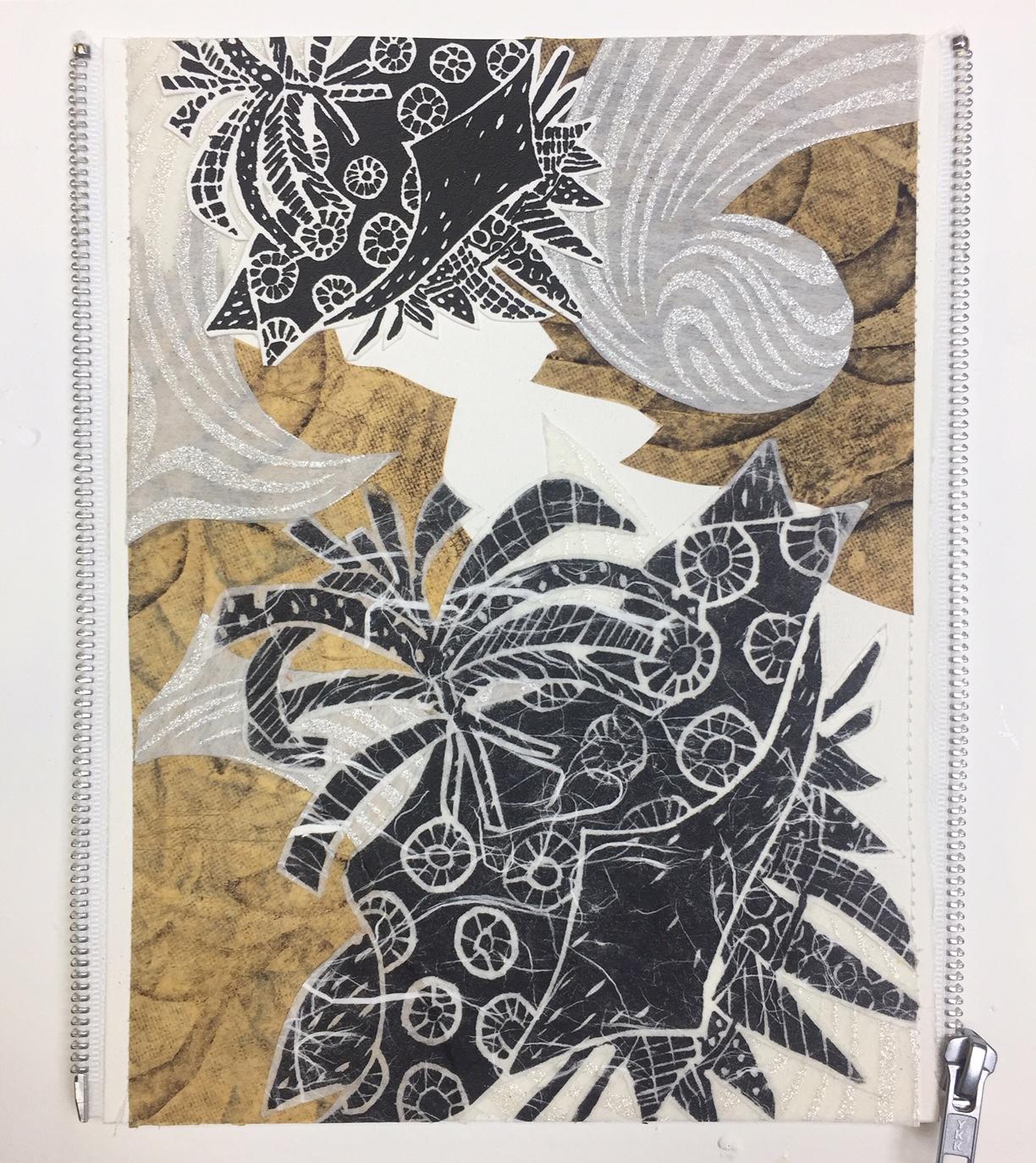 Among Friends_Christina Massey_Monoprint Collage