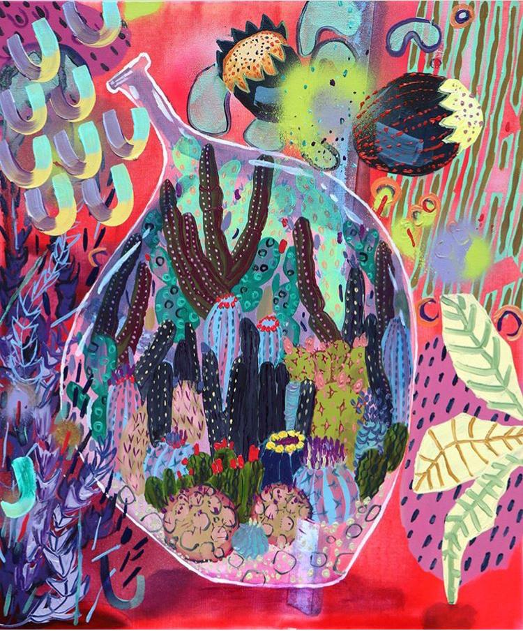 Melanie Daniel - Bottled Cacti