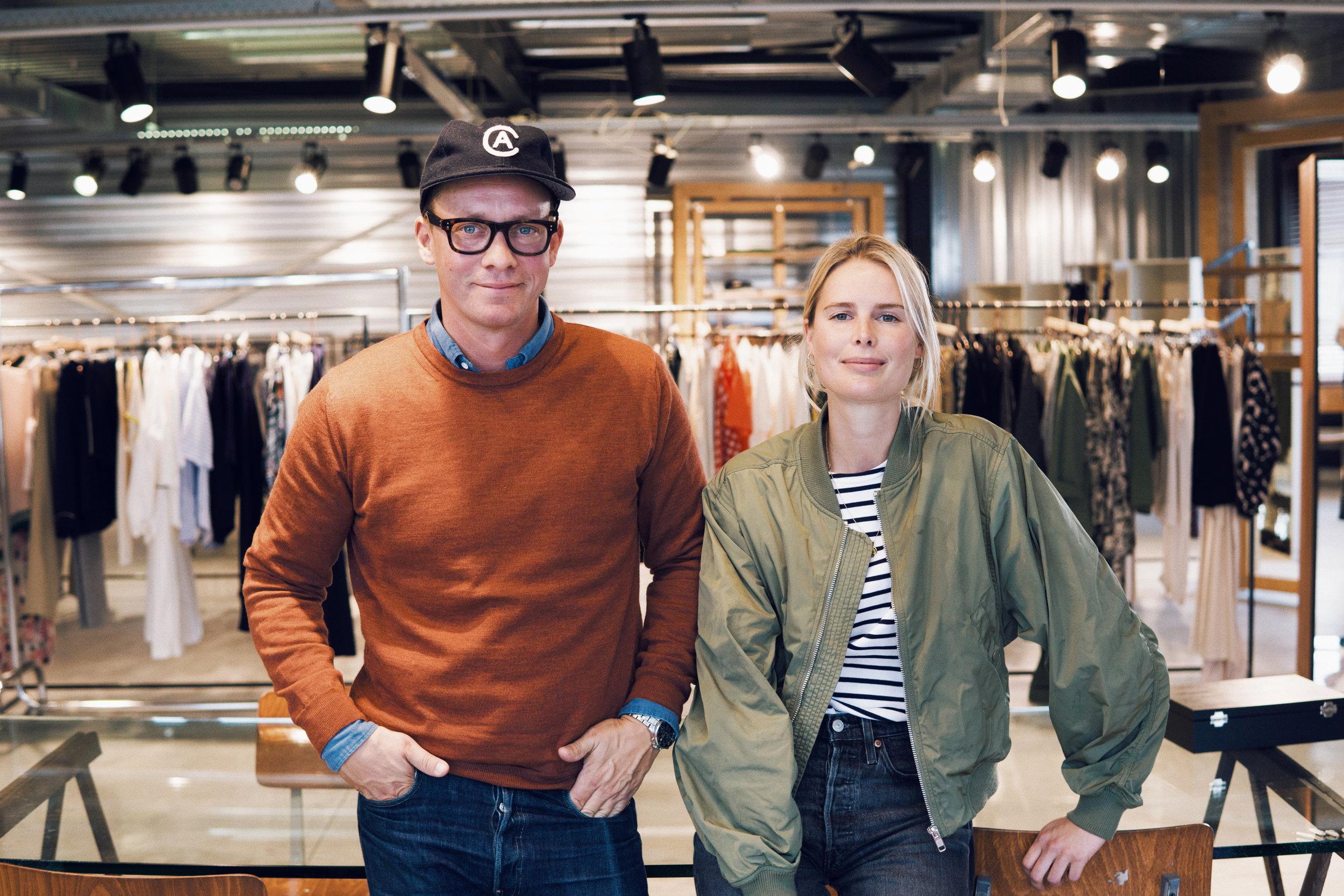 Jonas & Karin on their last visit at our showroom in Brussels