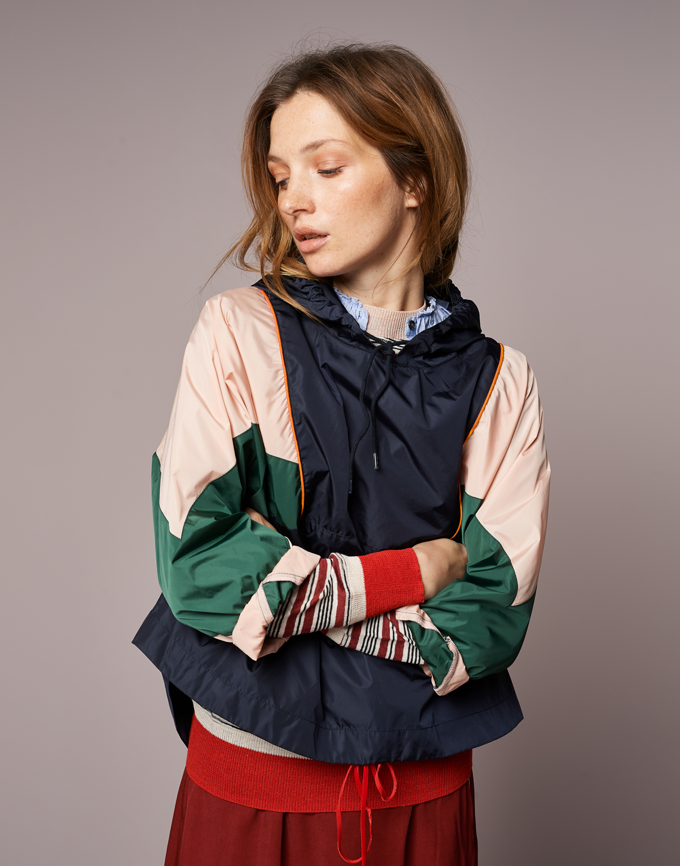 Rain Jacket Horizon  -  Knitwear Senia  -  Shirt Safran