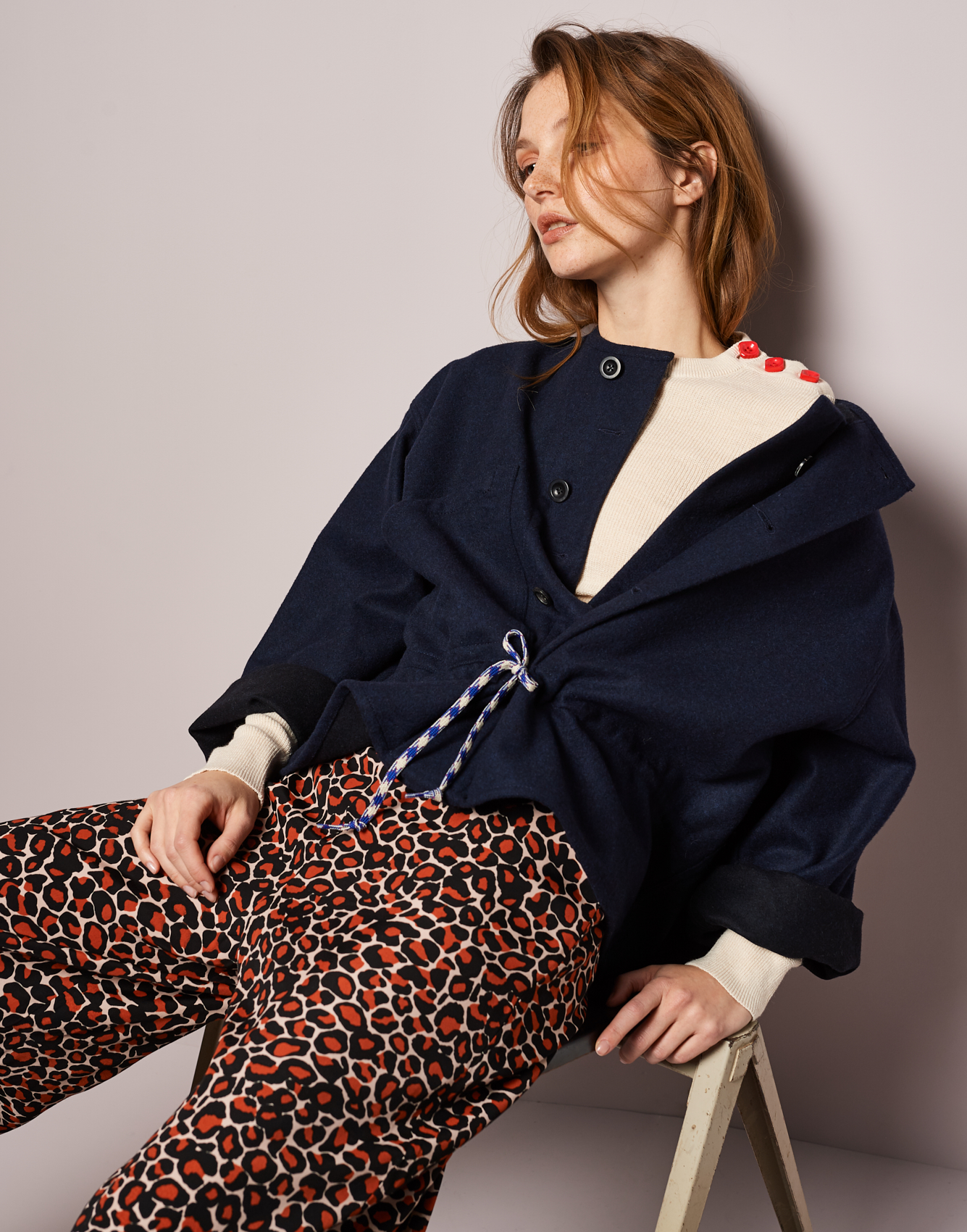 Pants Hawke  -  Jacket Laeti  -  Knitwear Gopol