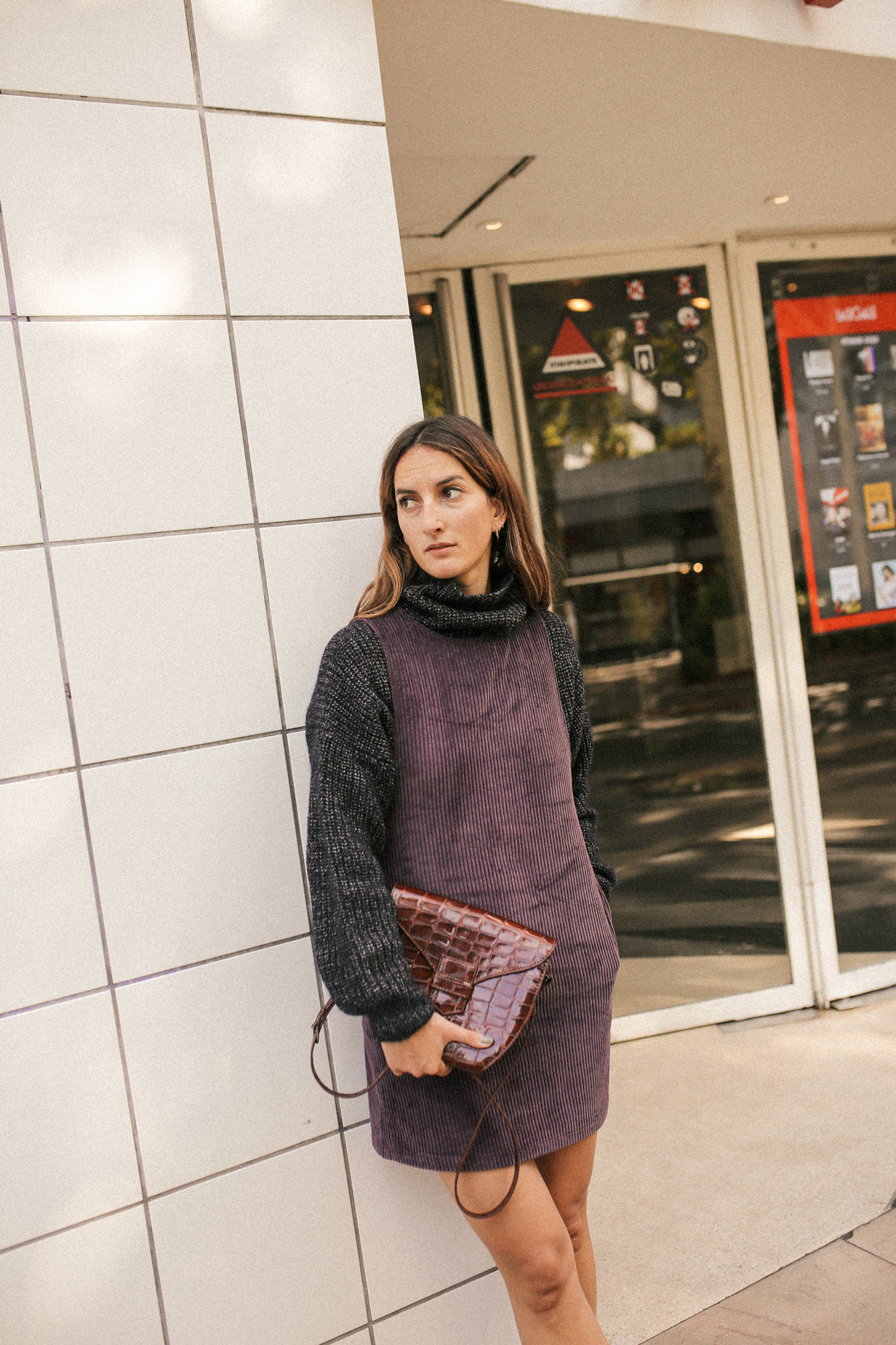 CORDOVAN DRESS  -  NICHOLSON NICHOLSON VOLCANO KNITWEAR  -  ANTHOLOGY ROMA CUCA BAG