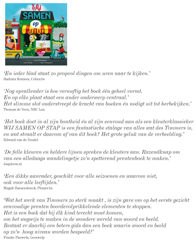 WIJ SAMEN OP STAP    Review roundup (in dutch)