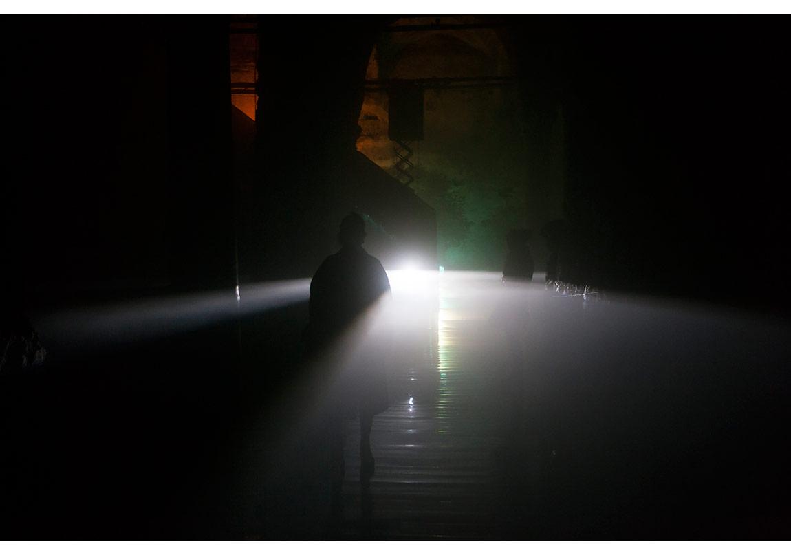 Yoğunluk, Water Soul,Site specific installation,2015 Fog, sound, automation. Tex and Conceptual Framework: Nil Aynalı Eğler Artists: İsmail Eğler, Nezih Vargeloğlu, Buşra Tunç Coordination: Elif Tekir