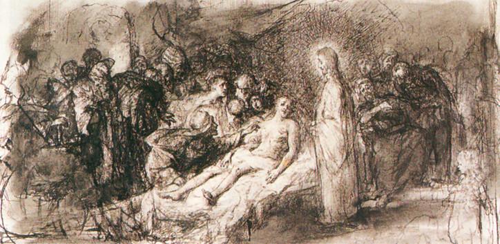 Gyárfás Jenő: A naini ifjú feltámasztása (~ 1880.)