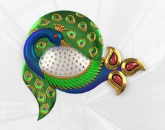 PEACOCK   Classic Stripes PVT LTD, India    Shortlisted Sticker Download