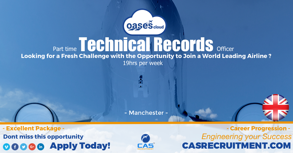 CAS Recruitment Trechnical records officer part time latest aviation jobs aviation recruitment.jpg