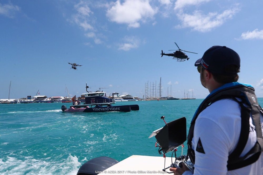 CEO & ICARUS Founder, Matt Williams flying the Freefly Systems 'ALTA' 8 for the Americas Cup Live TV Coverage in Bermuda.