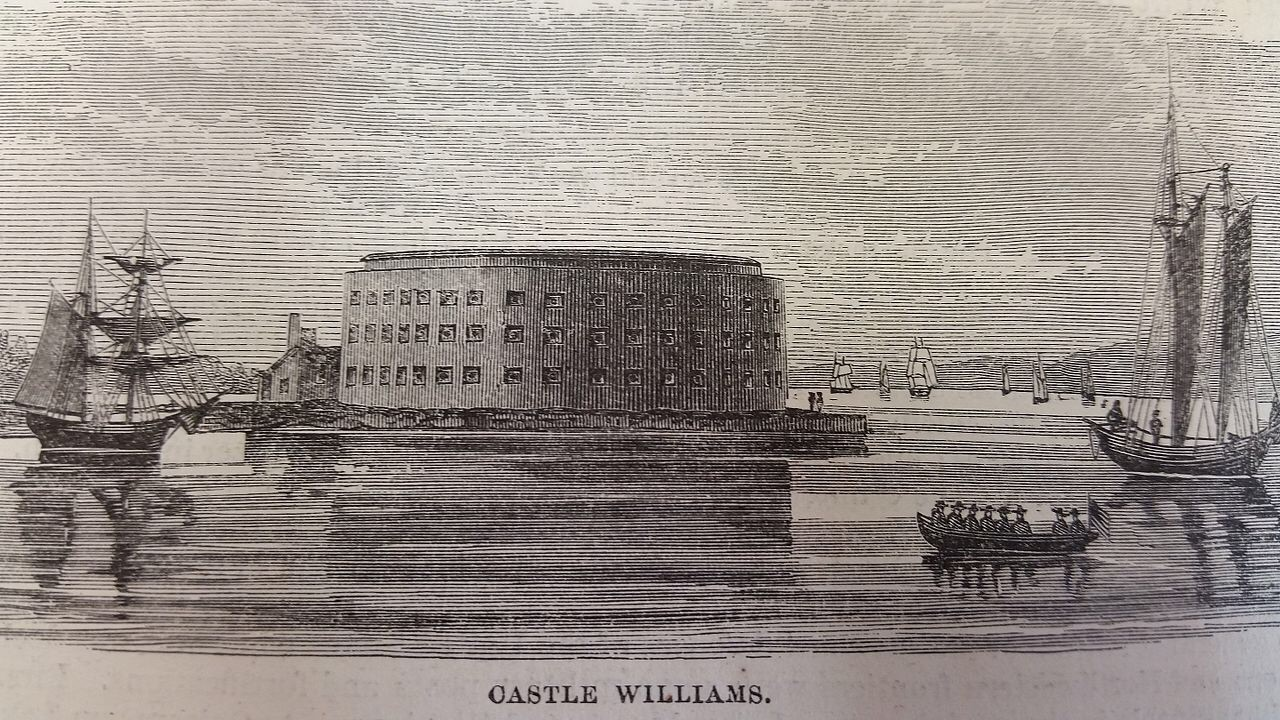 Castle Williams on Governors Island, designed and built (1807-1811) by West Point's first Superintendent, Jonathan Williams.