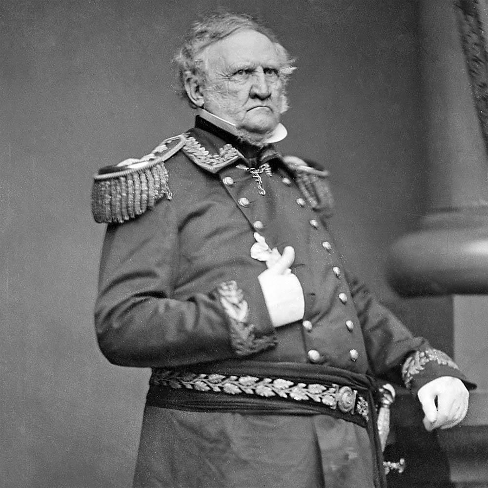 General Scott, ~1860. Source: NARA.