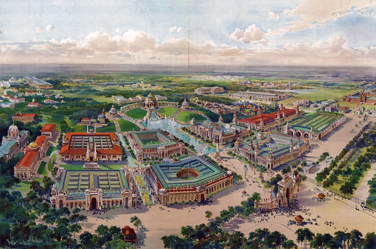 Map of the 1904 World's Fair. Source:  World's Fair, St Louis, 1904.  Library of Congress.