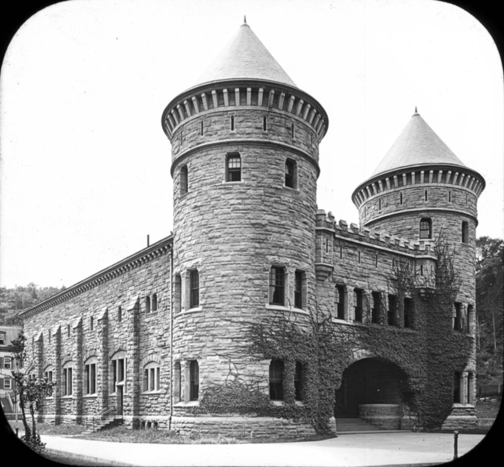 Old Gymnasium with Cadet Quartermaster's Department Store in the rear. Source: NYHS