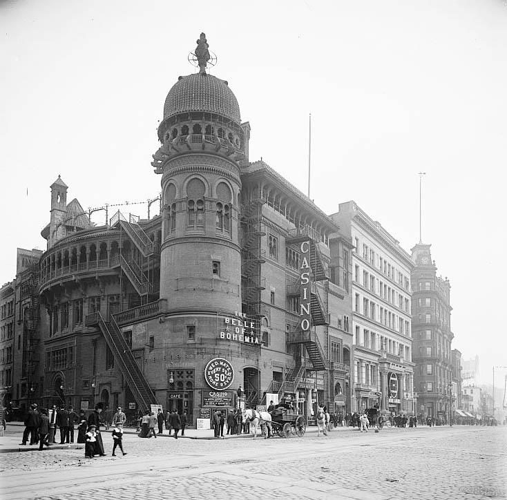 The Casino Theatre. Date Unknown. Source: Library of Congress.