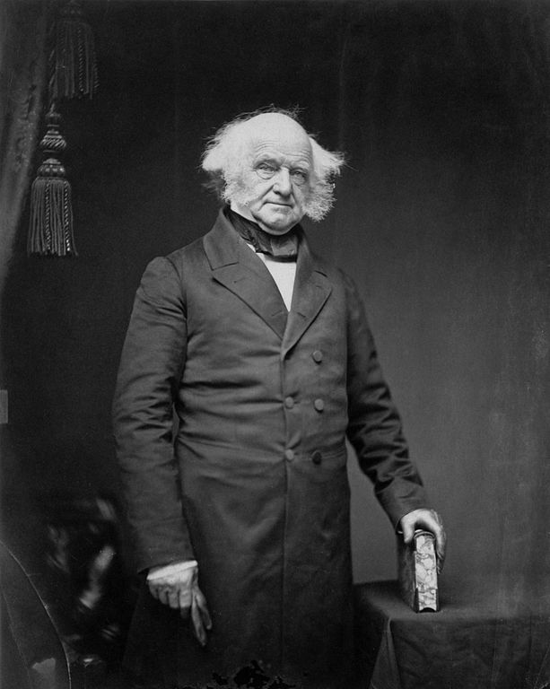 Martin Van Buren in the 1850s. Photo by Mathew Brady.