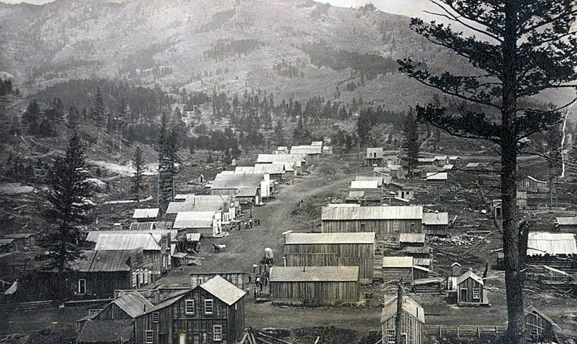Maiden, Montana in the 1880s, Public Domain photo by William Culver. Source:  Montana Historical Society .