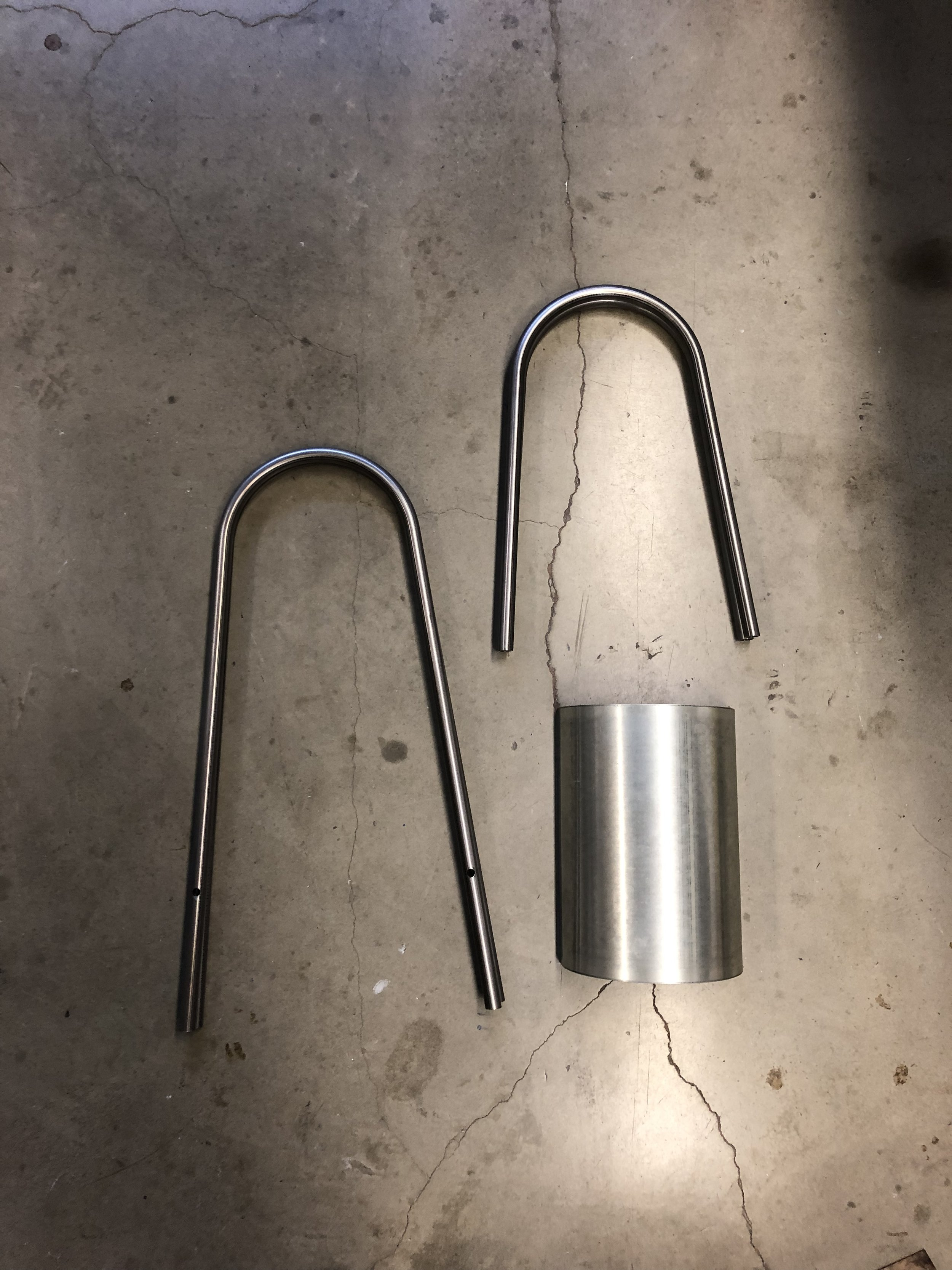 Metal parts, pre-welding.