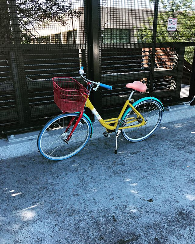 The infamous Google bicycle. . . . #google #bicycle #campuslife #colors #rad