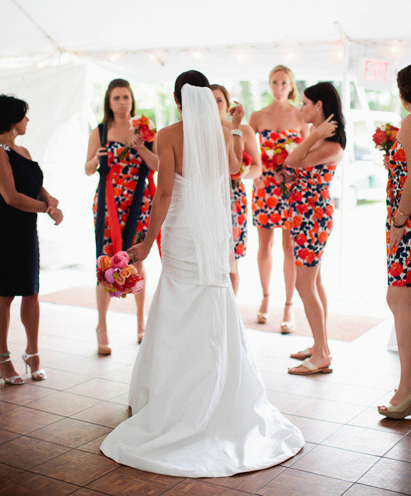 This beautiful bride's wedding was featured on the popular Style Me Pretty blog. Read more  here .