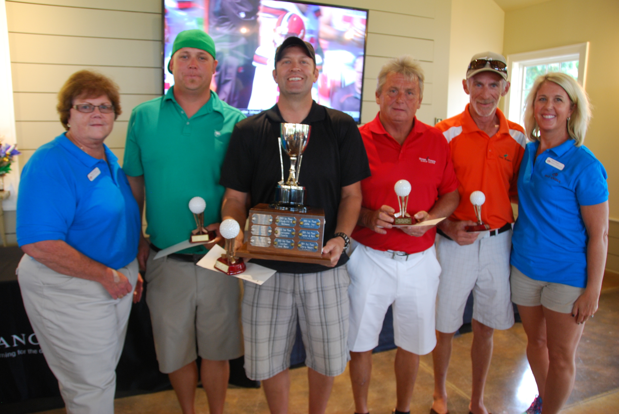 Last year's winning team at our Carolina Classic golf tournament!