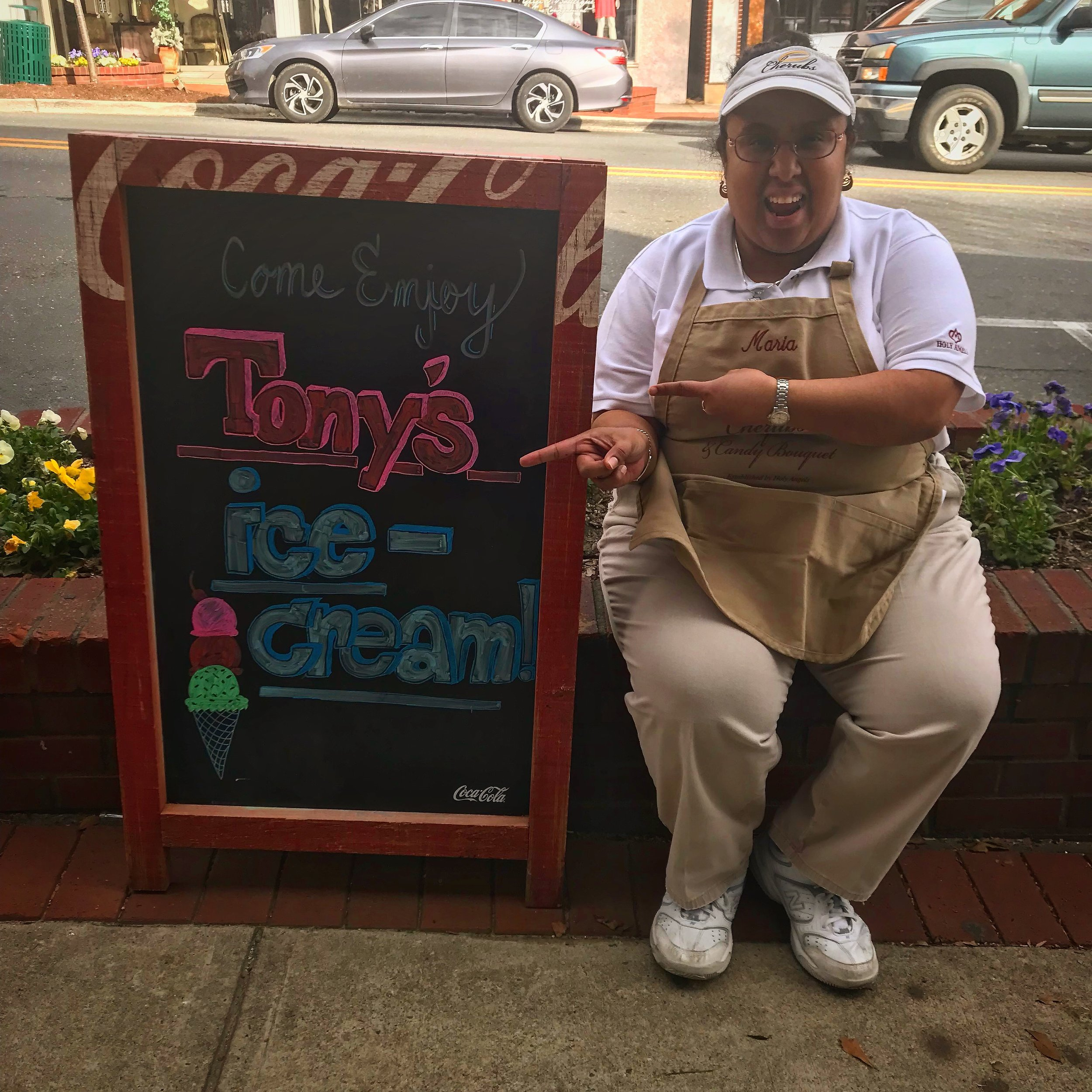 Tony's Ice cream Maria.JPG