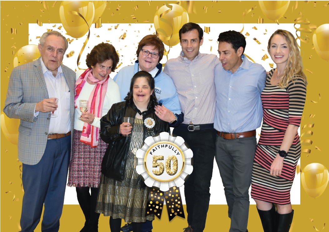 Martha and her family celebrate her 50th birthday in February 2019.