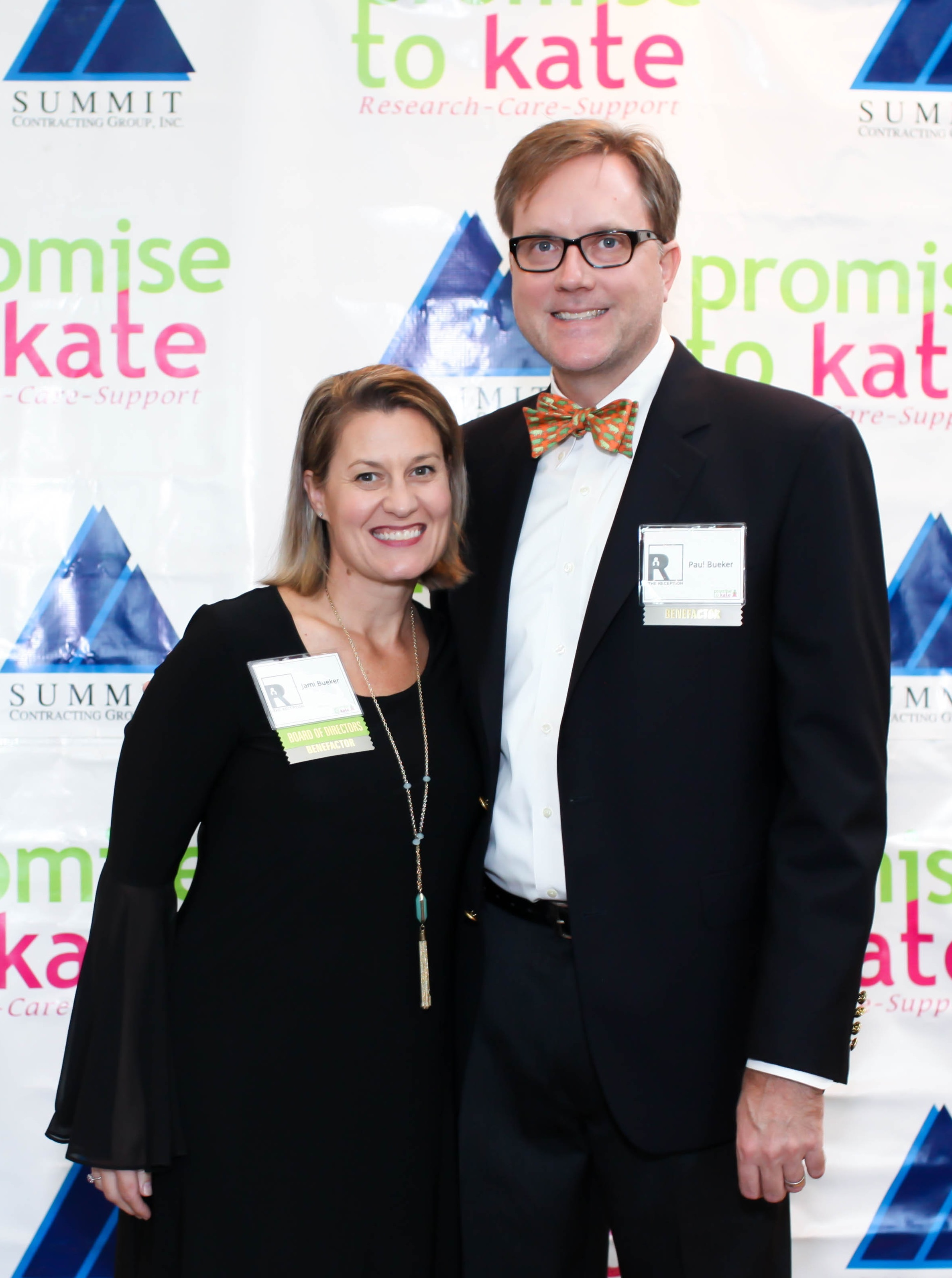 Jami with husband Paul at The Reception, Promise to Kate's annual fundraising gala.